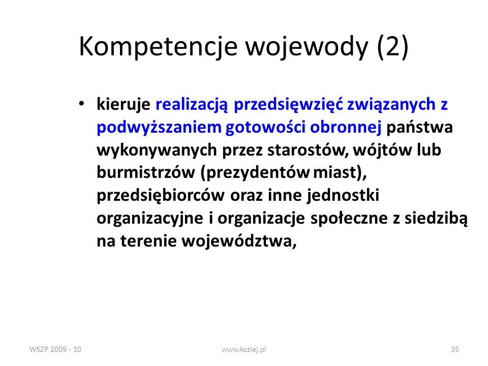 Kompetencje wojewody (2)