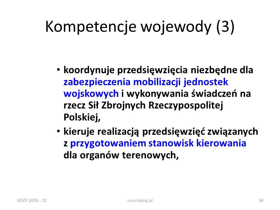 Kompetencje wojewody (3)