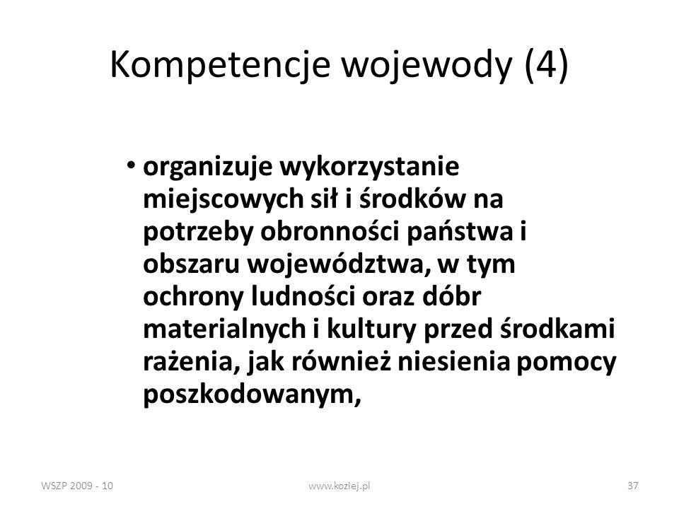 Kompetencje wojewody (4)