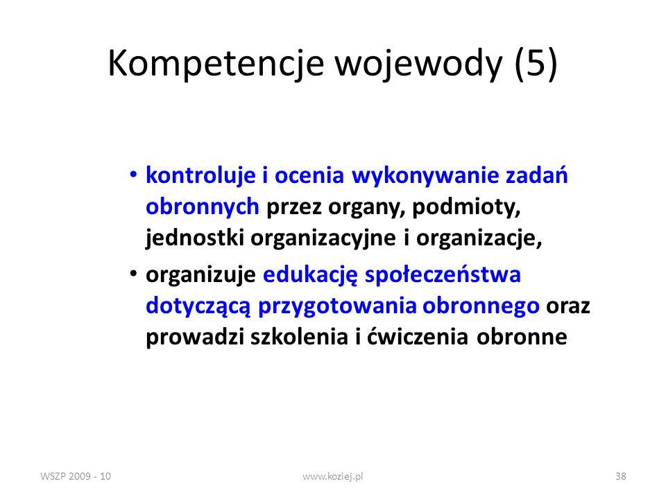 Kompetencje wojewody (5)
