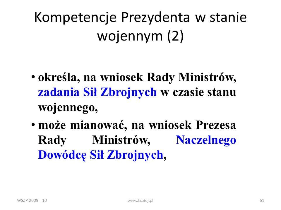 Kompetencje Prezydenta w stanie wojennym (2)