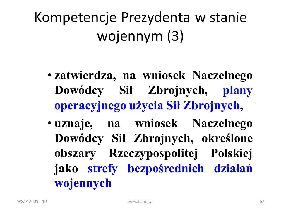 Kompetencje Prezydenta w stanie wojennym (3)