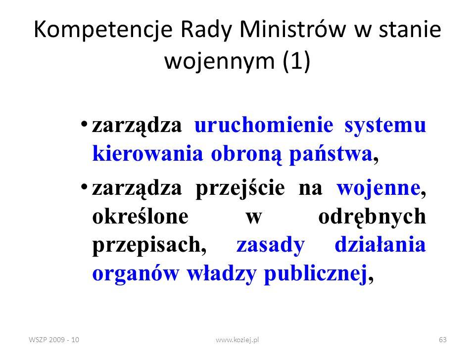 Kompetencje Rady Ministrów w stanie wojennym (1)