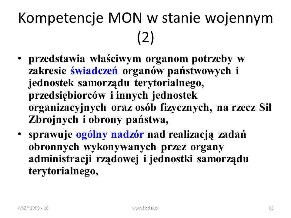Kompetencje MON w stanie wojennym (2)