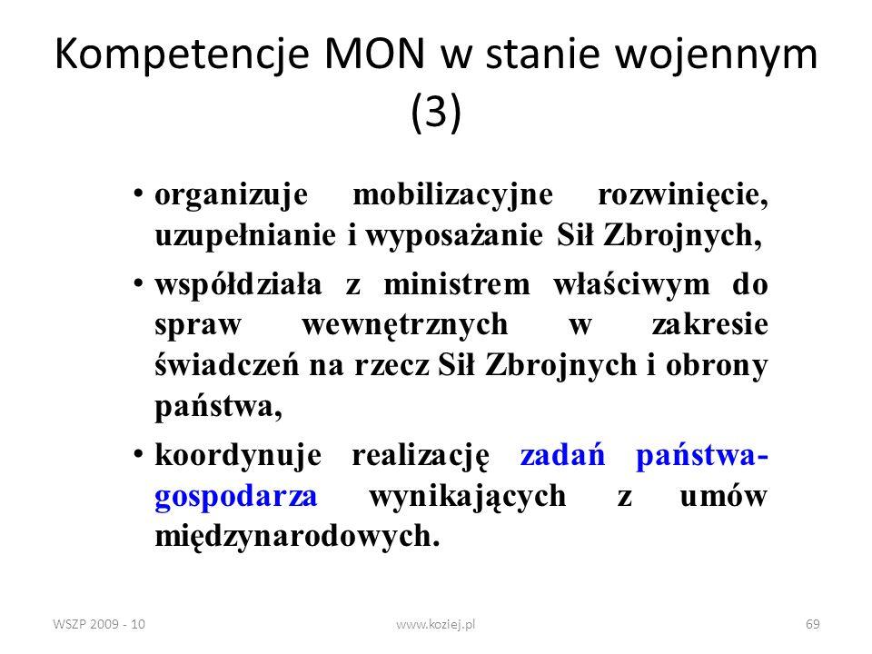 Kompetencje MON w stanie wojennym (3)