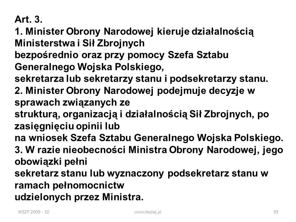 sekretarza lub sekretarzy stanu i podsekretarzy stanu.