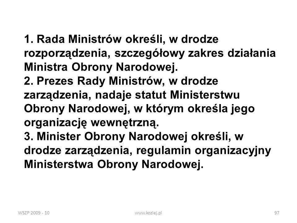 Ministra Obrony Narodowej.