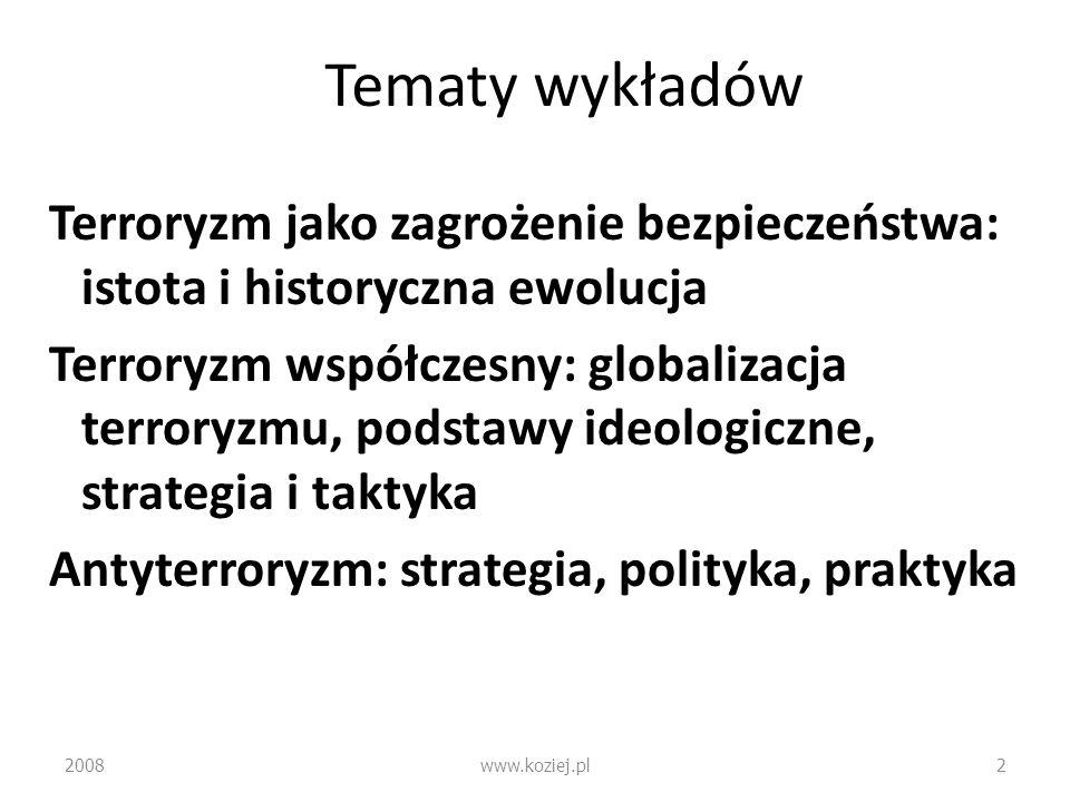 Tematy wykładów