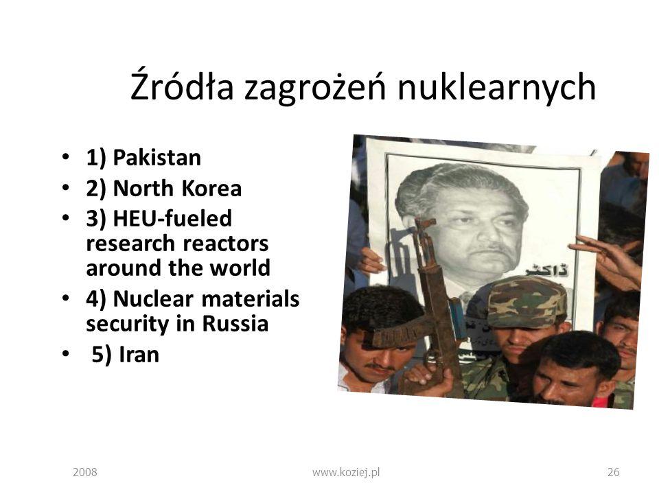 Źródła zagrożeń nuklearnych