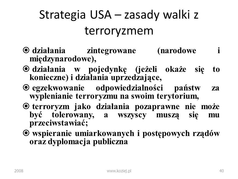 Strategia USA – zasady walki z terroryzmem