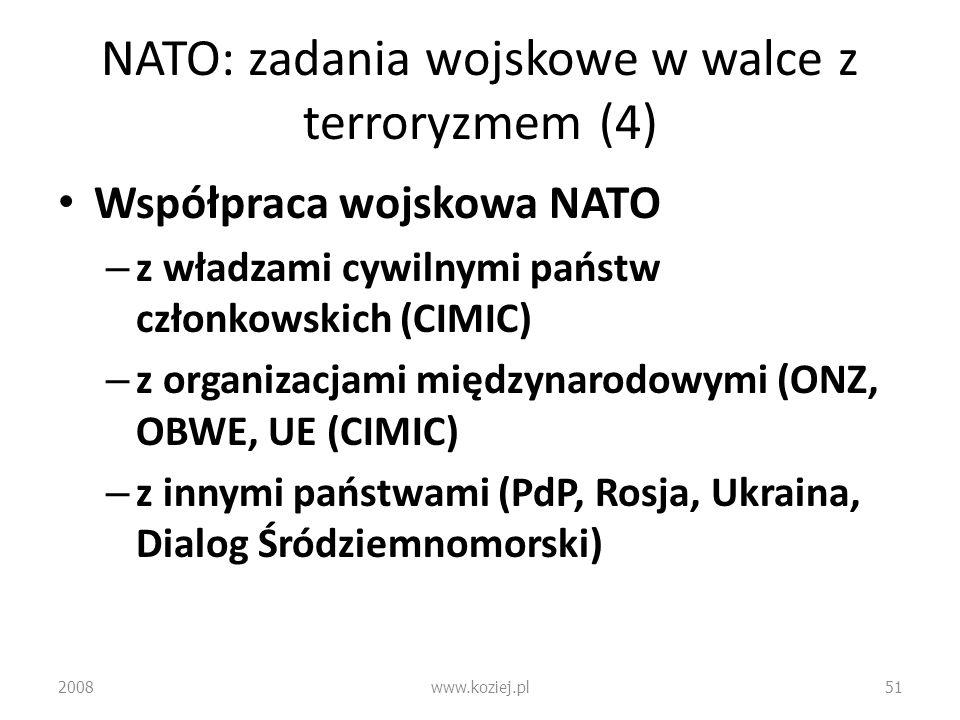 NATO: zadania wojskowe w walce z terroryzmem (4)
