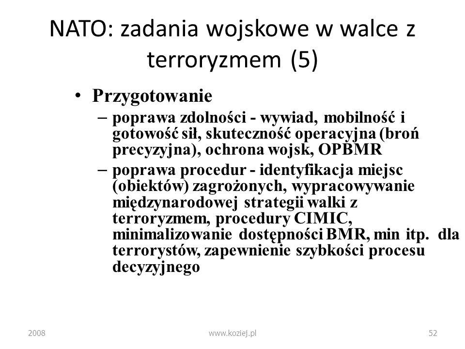 NATO: zadania wojskowe w walce z terroryzmem (5)