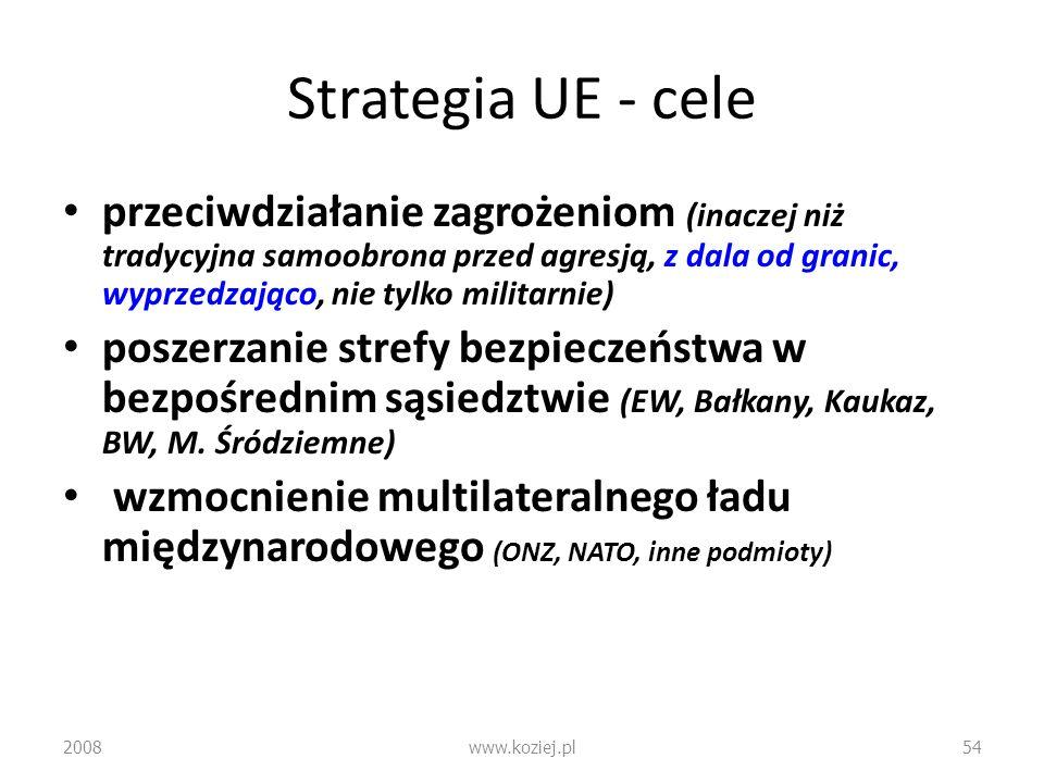 Strategia UE - cele