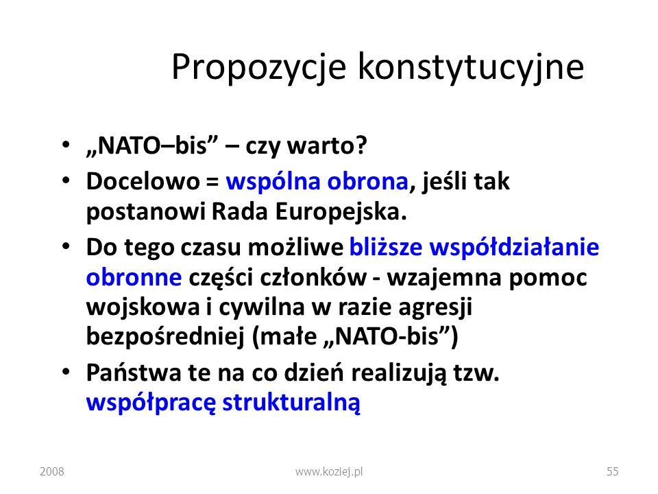 Propozycje konstytucyjne
