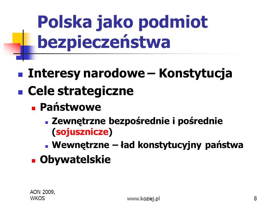 Polska jako podmiot bezpieczeństwa