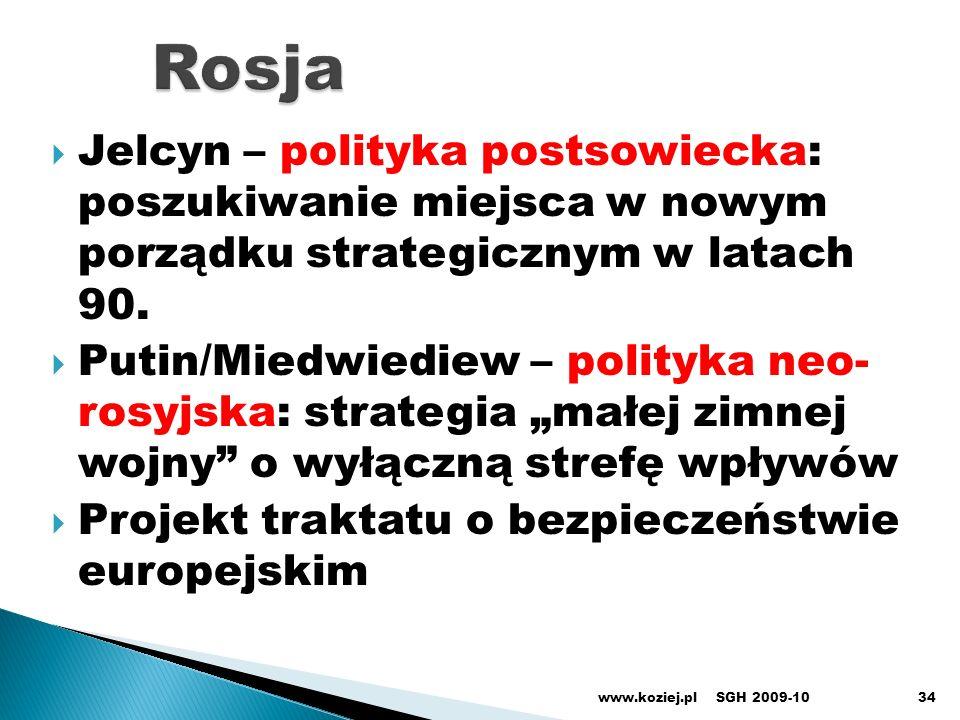 RosjaJelcyn – polityka postsowiecka: poszukiwanie miejsca w nowym porządku strategicznym w latach 90.