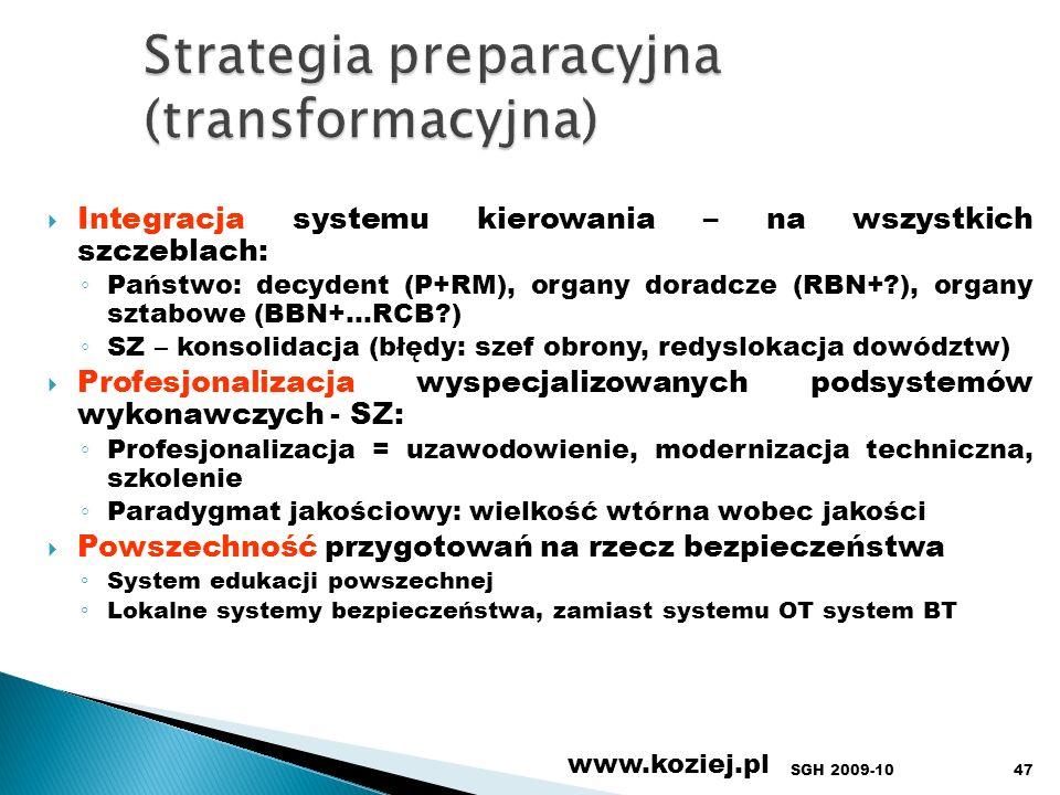 Strategia preparacyjna (transformacyjna)