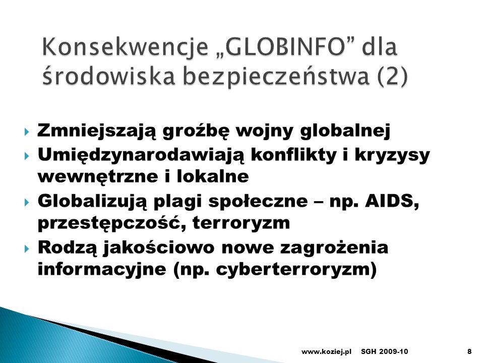 """Konsekwencje """"GLOBINFO dla środowiska bezpieczeństwa (2)"""