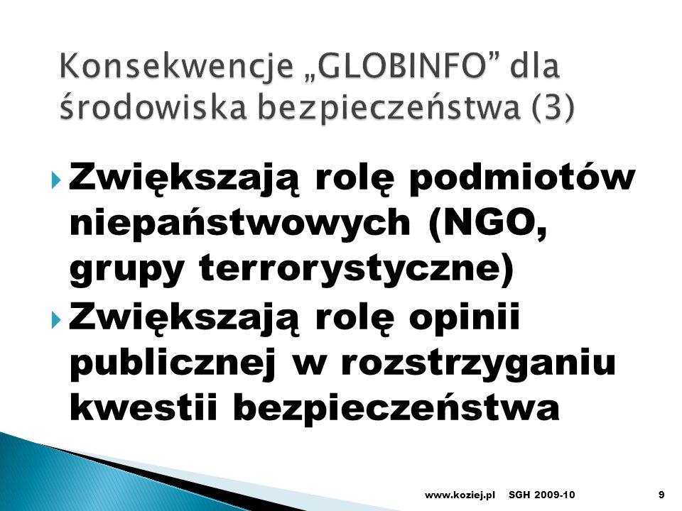 """Konsekwencje """"GLOBINFO dla środowiska bezpieczeństwa (3)"""