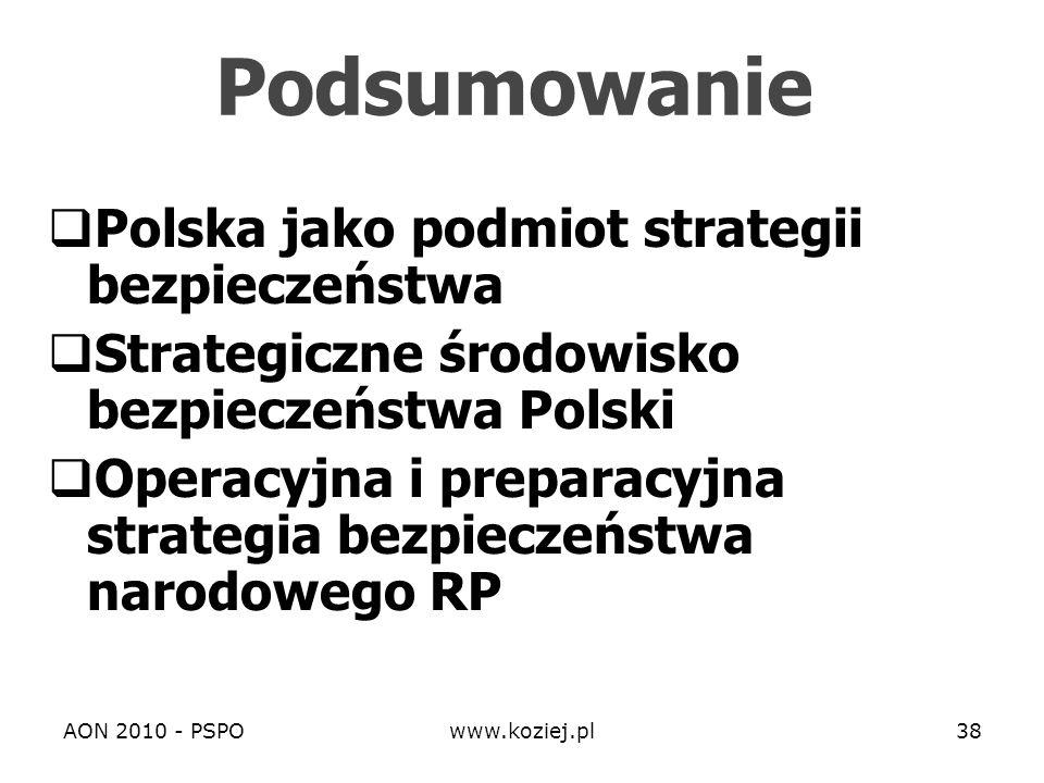 Podsumowanie Polska jako podmiot strategii bezpieczeństwa
