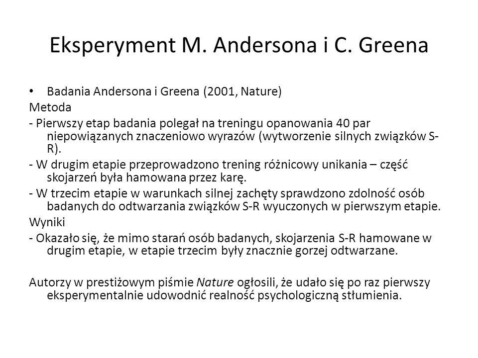 Eksperyment M. Andersona i C. Greena
