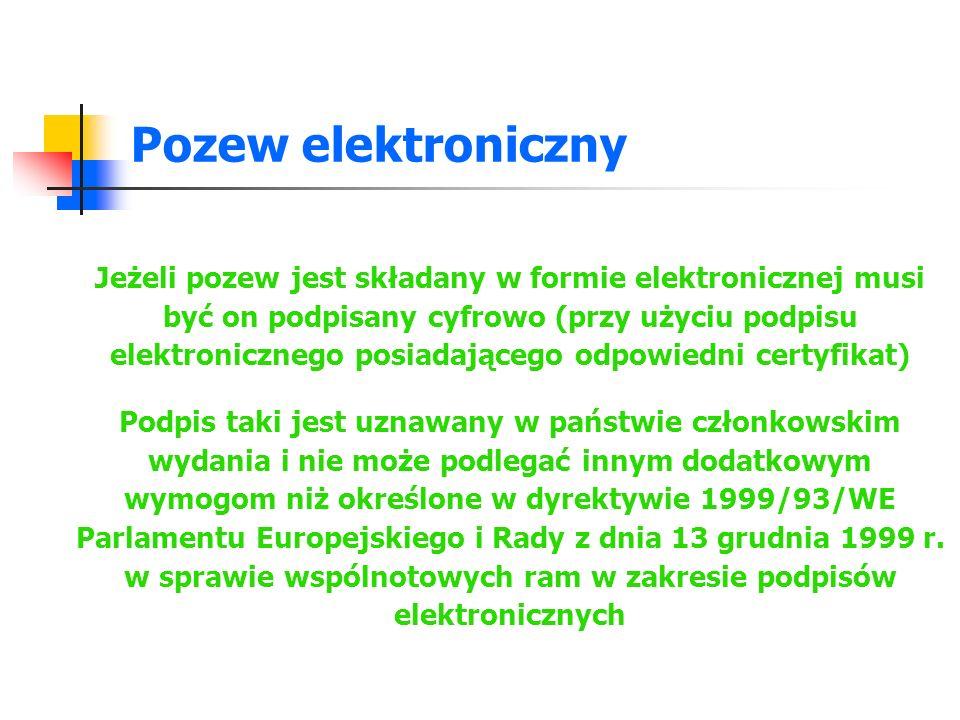 Pozew elektroniczny