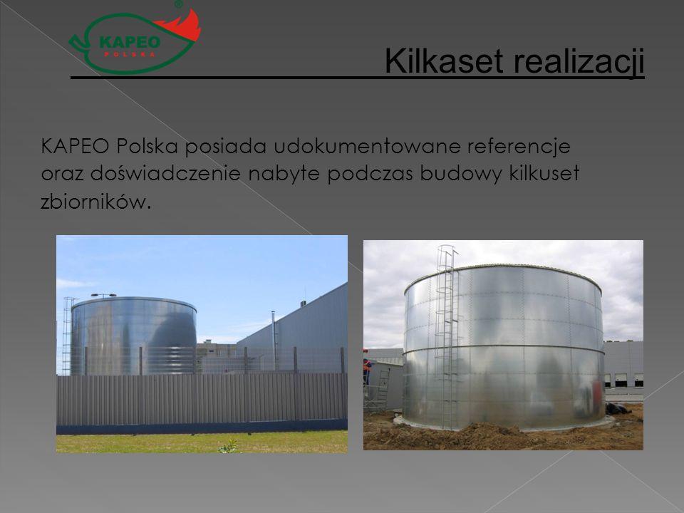 Kilkaset realizacji KAPEO Polska posiada udokumentowane referencje oraz doświadczenie nabyte podczas budowy kilkuset zbiorników.