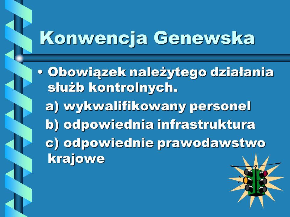 Konwencja Genewska Obowiązek należytego działania służb kontrolnych.