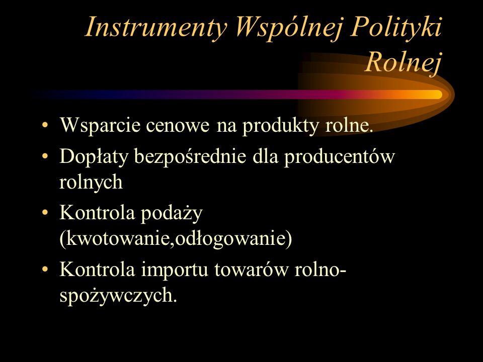 Instrumenty Wspólnej Polityki Rolnej