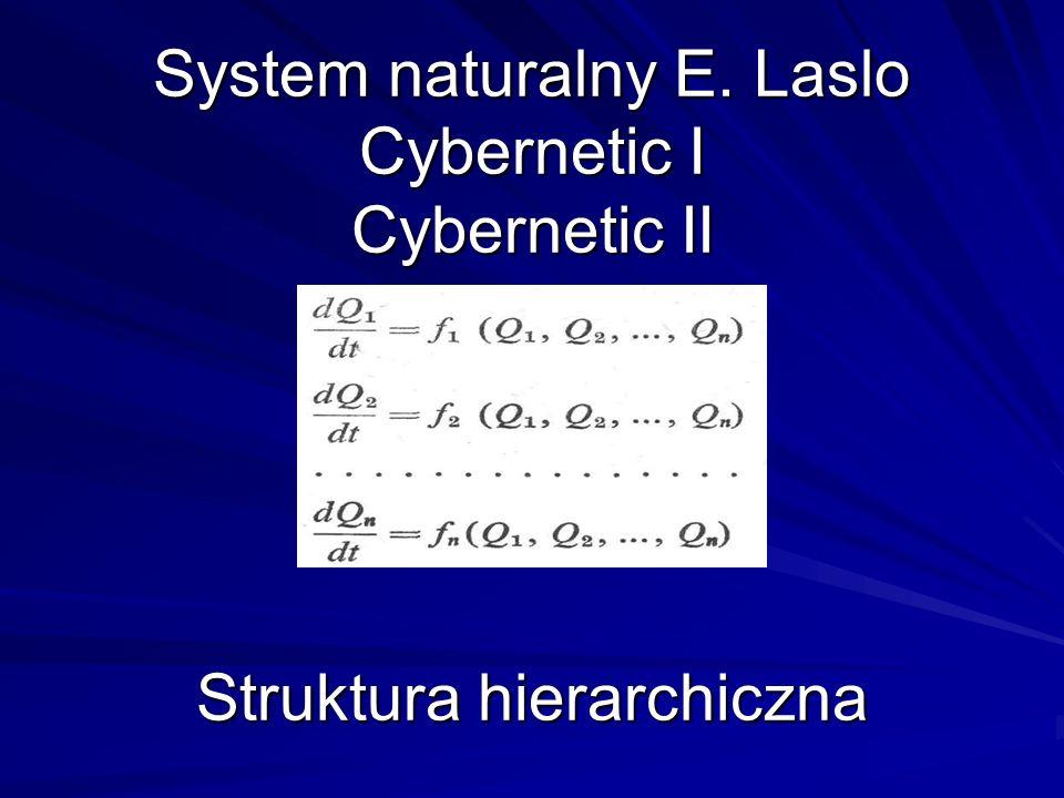 System naturalny E. Laslo Cybernetic I Cybernetic II Struktura hierarchiczna