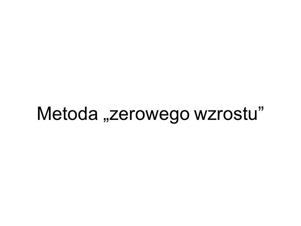 """Metoda """"zerowego wzrostu"""
