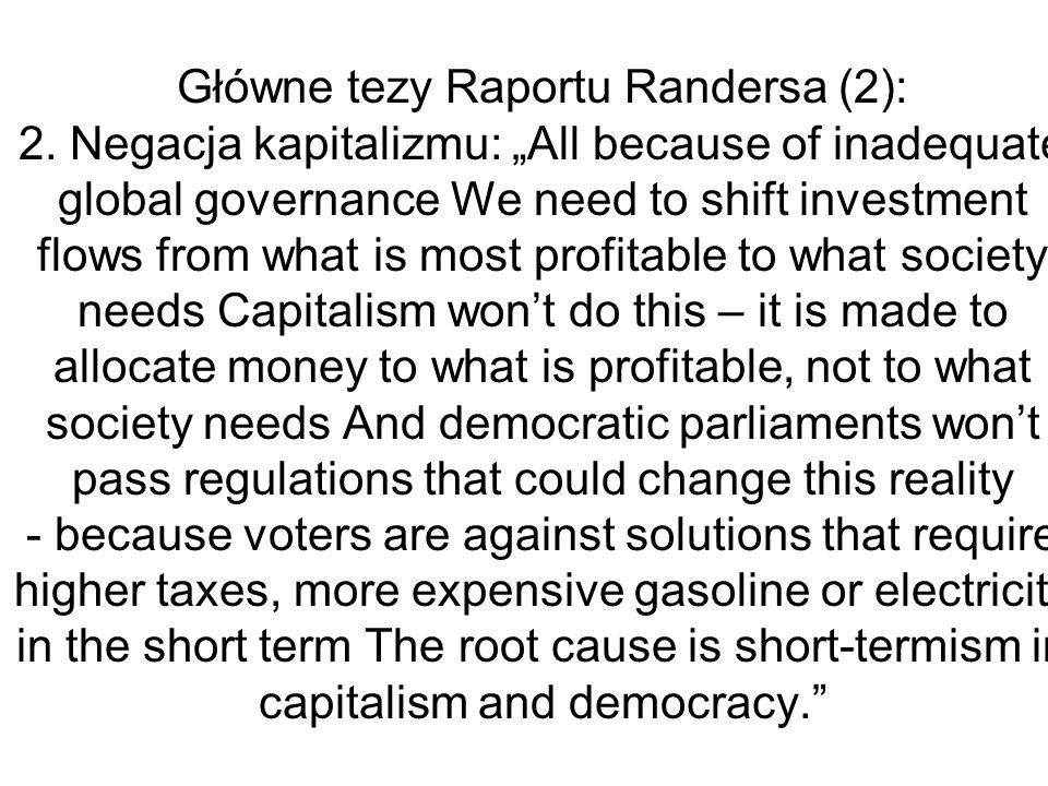 Główne tezy Raportu Randersa (2): 2
