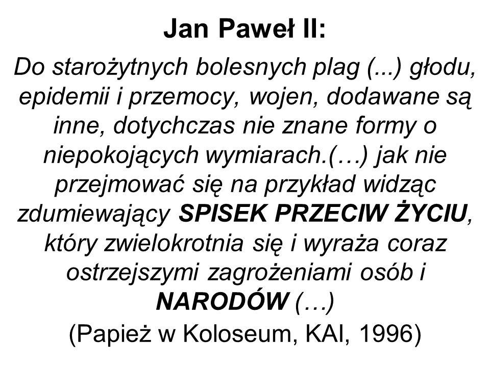 Jan Paweł II: Do starożytnych bolesnych plag (
