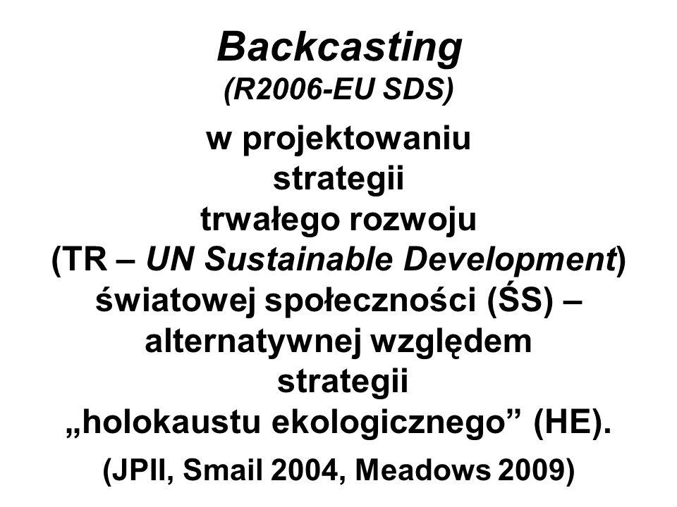 """Backcasting (R2006-EU SDS) w projektowaniu strategii trwałego rozwoju (TR – UN Sustainable Development) światowej społeczności (ŚS) – alternatywnej względem strategii """"holokaustu ekologicznego (HE)."""