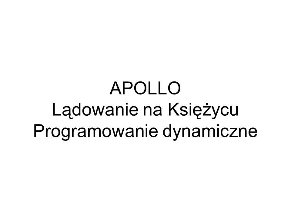 APOLLO Lądowanie na Księżycu Programowanie dynamiczne