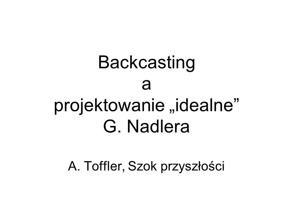 """Backcasting a projektowanie """"idealne G. Nadlera A"""