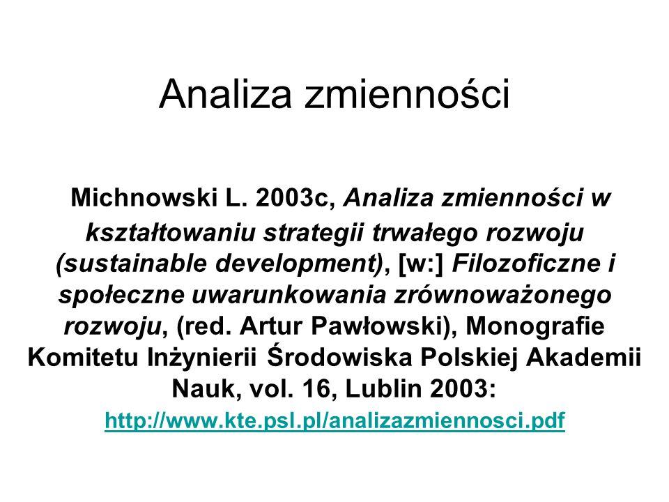 Analiza zmienności Michnowski L