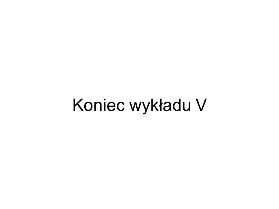 Koniec wykładu V