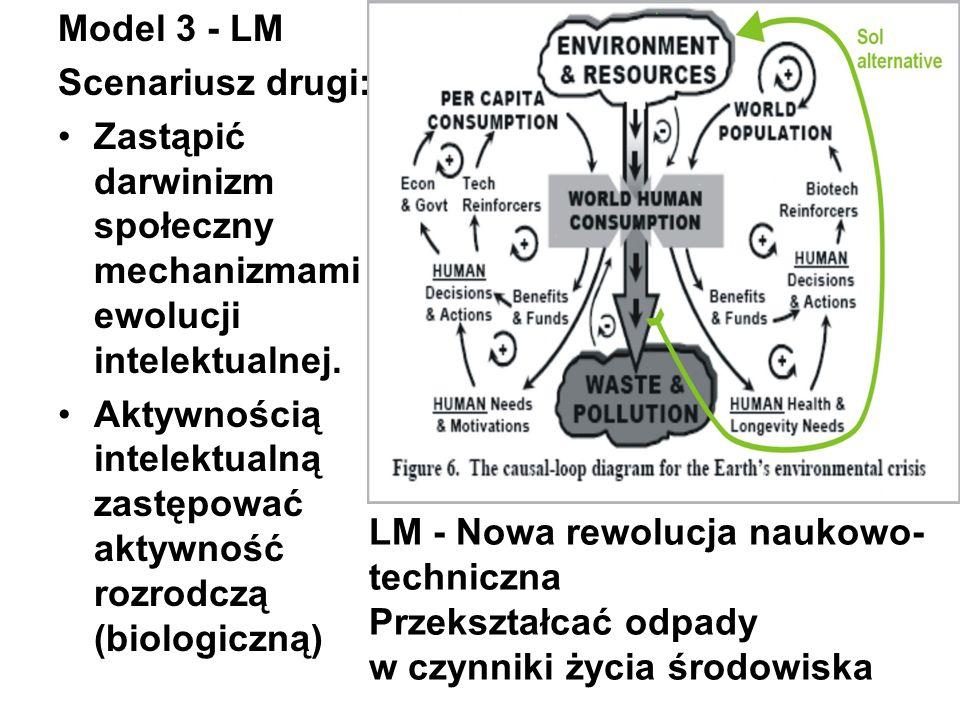 Model 3 - LMScenariusz drugi: Zastąpić darwinizm społeczny mechanizmami ewolucji intelektualnej.