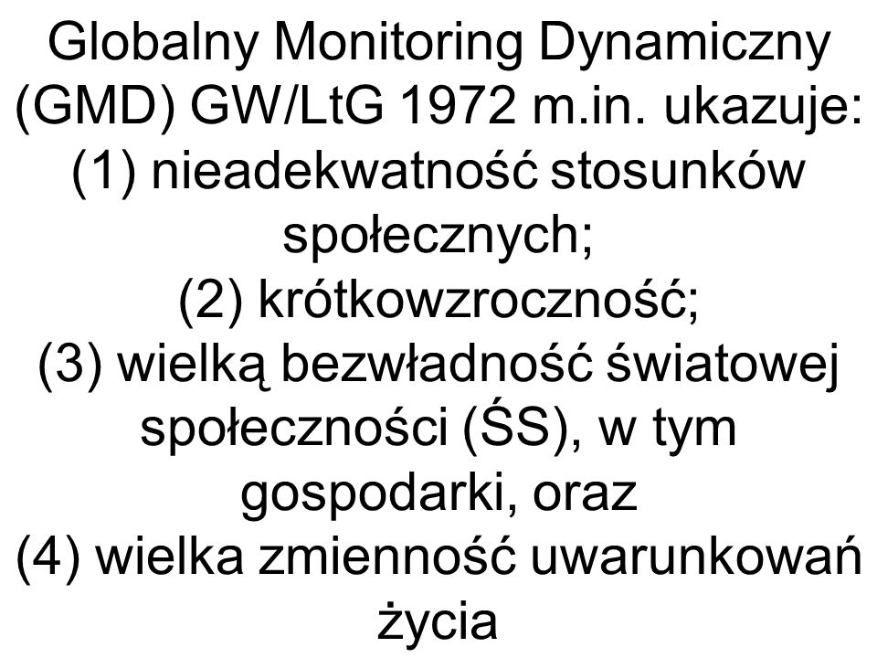 Globalny Monitoring Dynamiczny (GMD) GW/LtG 1972 m. in