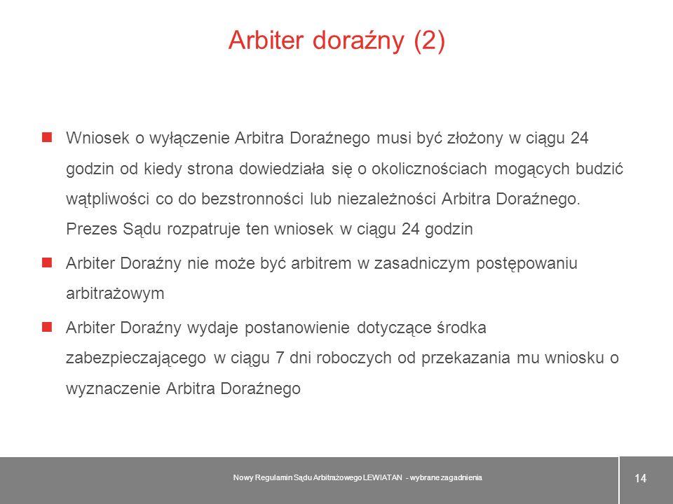 Arbiter doraźny (2)