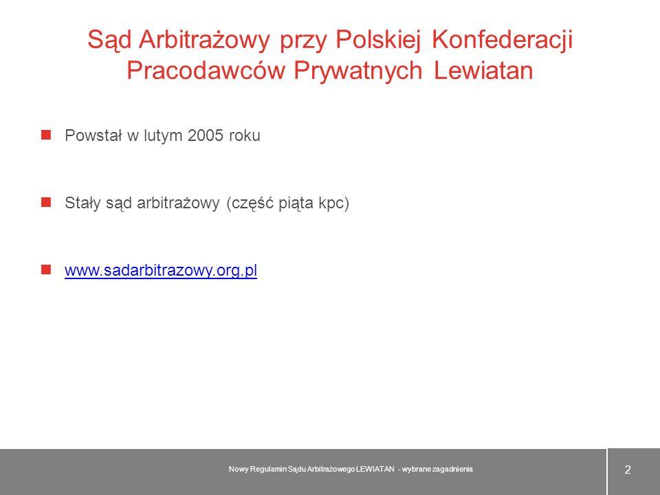 Sąd Arbitrażowy przy Polskiej Konfederacji Pracodawców Prywatnych Lewiatan