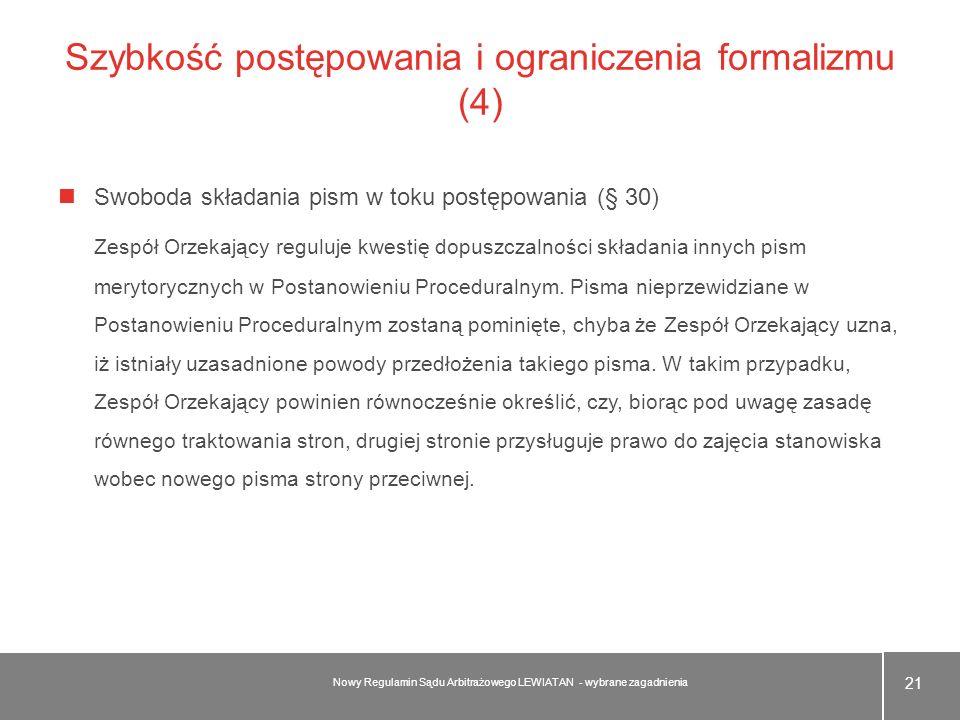 Szybkość postępowania i ograniczenia formalizmu (4)