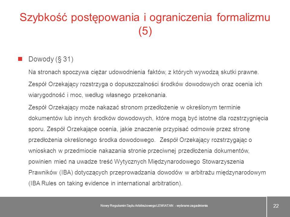 Szybkość postępowania i ograniczenia formalizmu (5)