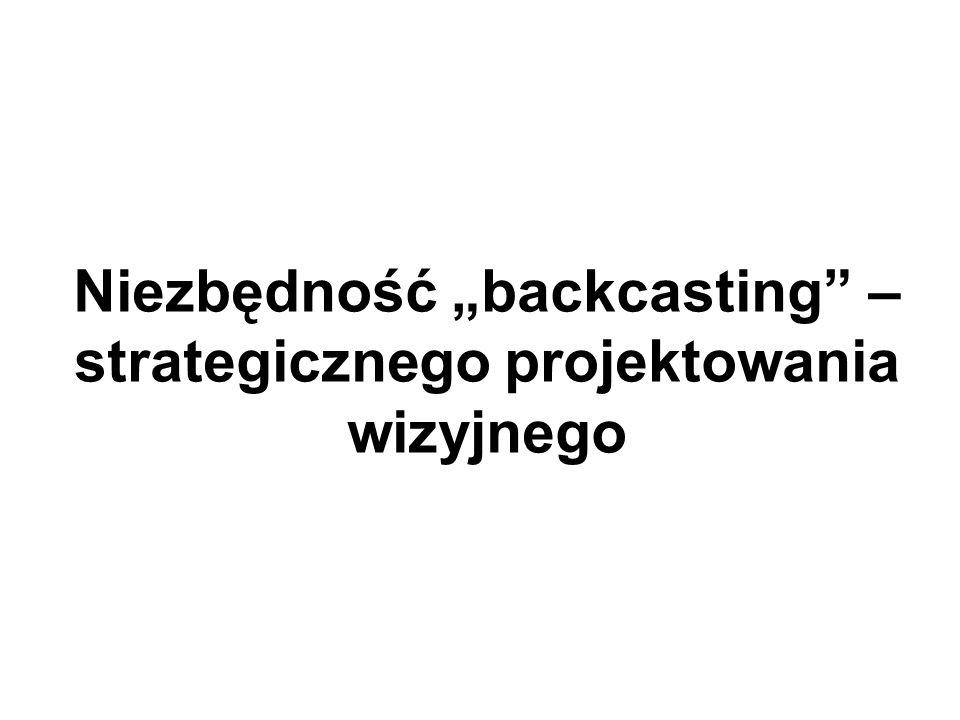 """Niezbędność """"backcasting – strategicznego projektowania wizyjnego"""