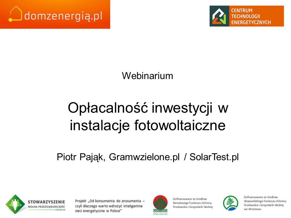 Opłacalność inwestycji w instalacje fotowoltaiczne