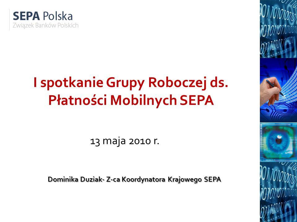 I spotkanie Grupy Roboczej ds. Płatności Mobilnych SEPA