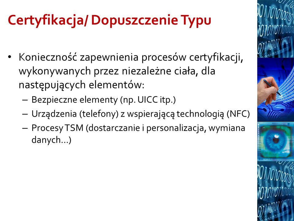 Certyfikacja/ Dopuszczenie Typu