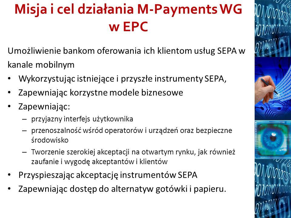 Misja i cel działania M-Payments WG w EPC