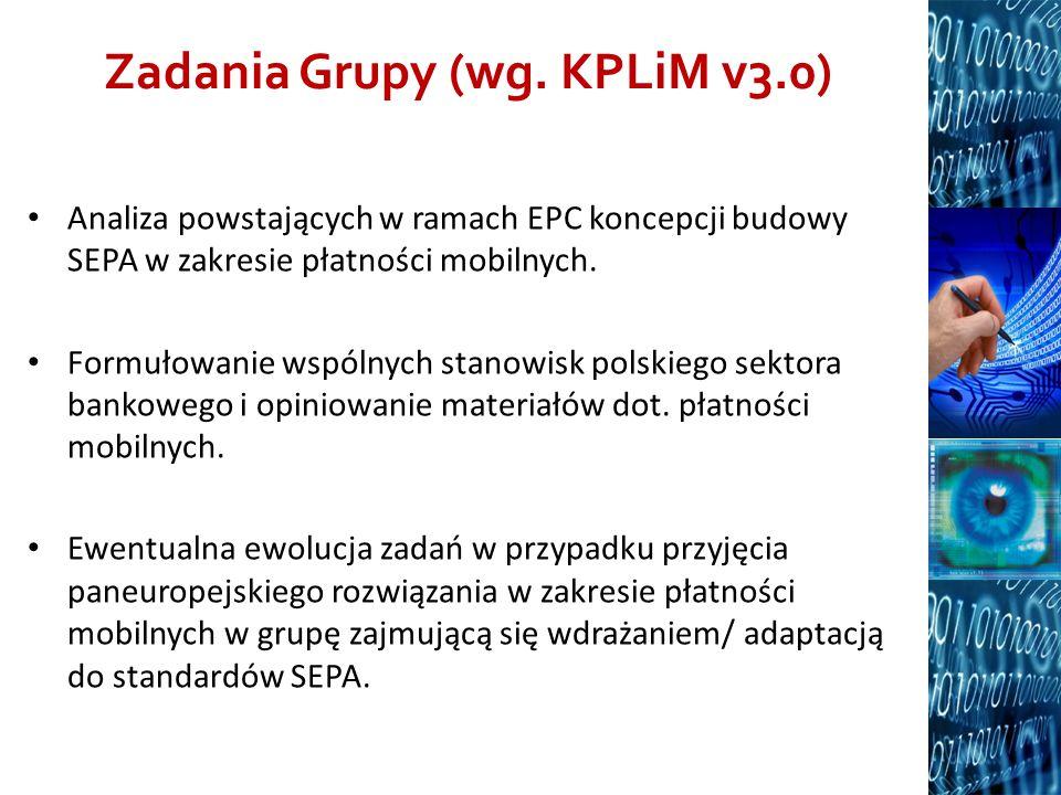 Zadania Grupy (wg. KPLiM v3.0)